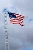 De Amerikaanse vlieg in elk van zijn glorie. Royalty-vrije Stock Afbeelding