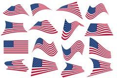 De Amerikaanse vliegende Vlag van de V.S. Royalty-vrije Stock Afbeeldingen