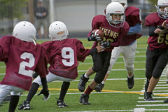 De Amerikaanse voetbal Vikingen van de jeugd Stock Foto