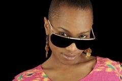 De Amerikaanse Vrouw van Afro Royalty-vrije Stock Afbeeldingen