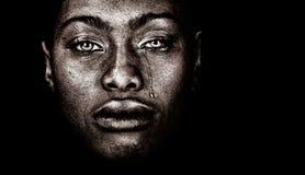De Amerikaanse Vrouw van Afro stock foto