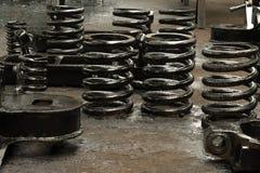 De amortisatiemechanisme van de lente van chassis Stock Fotografie