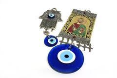 De Amulet van het oog stock foto
