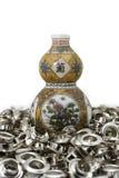 De amulet van kalebasboomchina op oogje royalty-vrije stock fotografie