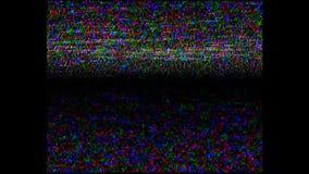 De analoge TV-cassette van de signaalhd VHS retro videoopname, TV-kanalenfout Het scherm, lawaai Statische trilling met Lawaaigel stock footage