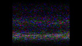 De analoge TV-cassette van de signaalhd VHS retro videoopname, TV-kanalenfout Het scherm, lawaai Statische trilling met Lawaaigel stock video