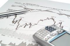 De Analyse van de Effectenbeurs Royalty-vrije Stock Afbeelding