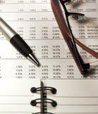 De Analyse van de Effectenbeurs - II Stock Foto's