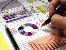 De analyse van de grafiek Royalty-vrije Stock Afbeeldingen