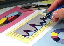 De analyse van de grafiek Stock Afbeeldingen