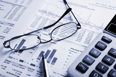 De analyse van de voorraad Stock Afbeeldingen
