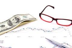 De analyse van grafieken Royalty-vrije Stock Foto's