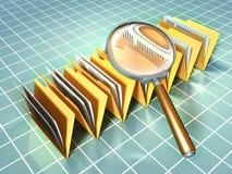 De analyse van het document vector illustratie