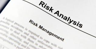 De Analyse van het risico Stock Fotografie
