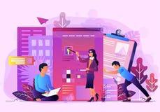 De analyse vectorillustratie van bedrijfsbureaugegevens royalty-vrije illustratie