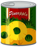 De ananas in aluminium kan vector illustratie