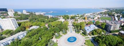 De Anapa-stad Krasnodargebied Rusland Panorama stock fotografie