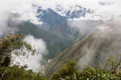 De Andes en de wolken op Inca Trail peru 3d zeer mooie driedimensionele illustratie, cijfer Geen mensen Royalty-vrije Stock Fotografie