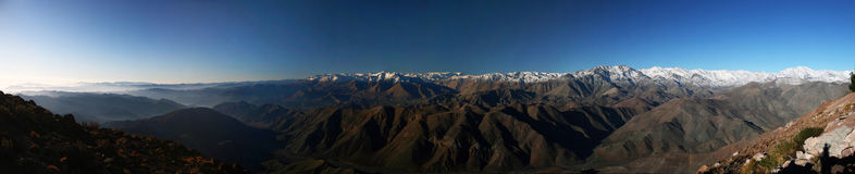 De Andes van Cerro Tololo Inter-Amerikaans Waarnemingscentrum Royalty-vrije Stock Afbeeldingen