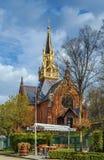 De Anglicaanse Kerk van Heilige Lucas, Karlovy varieert Stock Afbeeldingen