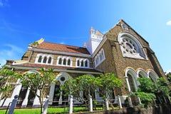 De Anglicaanse Kerk van het Gallefort ` s - Sri Lanka-de Werelderfenis van Unesco stock afbeeldingen