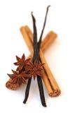 De anijsplant van de kaneel, van de vanille en van de ster Stock Afbeeldingen