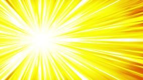 De animatie van de beeldverhaalstraal Glanzende zonachtergrond Zonnestraalstralen in hemel Abstract lijnontwerp royalty-vrije illustratie
