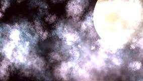 De Animatie van Cloudscape van de nachtmaan vector illustratie