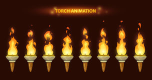 De animatie van de beeldverhaaltoorts stock illustratie