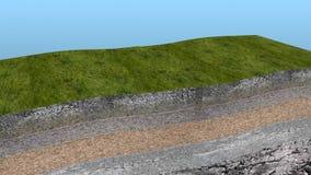 De Animatie van de de Bergvorming van de plaattektoniek stock videobeelden