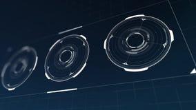 De animatie van de Hudcirkel stock illustratie