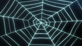 De Animatie van de spinneweblijn stock videobeelden
