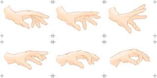 De Animatie van de Vangst van de hand vector illustratie