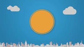 De animatie van het cirkeldiagram voor onderwerpinleiding of verklaring in Power Point-presentaties 1 royalty-vrije illustratie