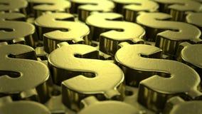 De animatie van het dollarteken stock videobeelden