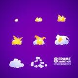 De animatie van het explosiebeeldverhaal stock illustratie