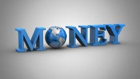 De Animatie van het wereldgeld vector illustratie