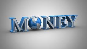 De Animatie van het wereldgeld stock illustratie