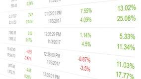 De animatie van indexfondsen het tonen bereikt en verliest royalty-vrije illustratie