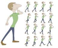 De animatie van Sprite van de gangcyclus Royalty-vrije Stock Afbeelding