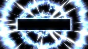 De animatie van de stoomwolk Animatie van de beeldverhaal de witte rook, de achtergrond van de Mistlijn, stock video