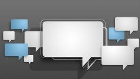 De animatiemotie van toespraakbellen grafisch voor presentatie templete stijl 7 vector illustratie