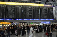 De annulering van de luchthaven Stock Fotografie
