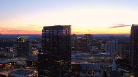 De Antenne van Atlanta stock video