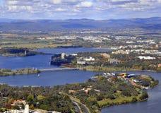 De antenne van Canberra stock afbeeldingen