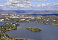 De antenne van Canberra royalty-vrije stock fotografie