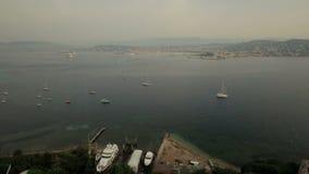 De Antenne van Cannes stock footage