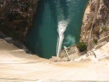 De antenne van de dam stock afbeelding