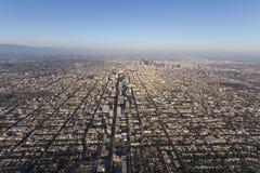 De Antenne van de de Zomermiddag van Los Angeles Smoggy Stock Fotografie