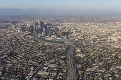 De Antenne van de de Zomersmog van Los Angeles Stock Fotografie
